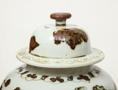 Pair of Brown and White Ginger Jars - 1312589