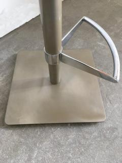 Pair of Brushed Steel Swivel and Adjustable Barstools or Countertop stools - 1099853