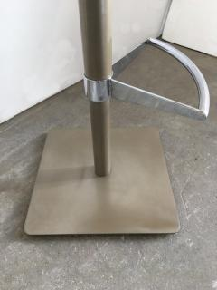 Pair of Brushed Steel Swivel and Adjustable Barstools or Countertop stools - 1099854