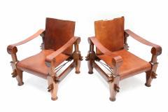 Pair of Brutalist Safari Chairs - 265117