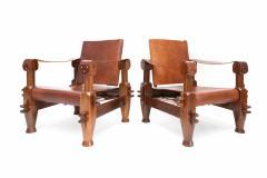 Pair of Brutalist Safari Chairs - 265118