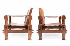 Pair of Brutalist Safari Chairs - 265119