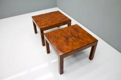 Pair of Burl Wood Side or End Tables 1970s - 1168101