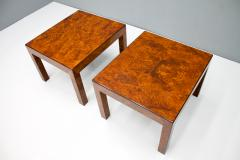 Pair of Burl Wood Side or End Tables 1970s - 1168106