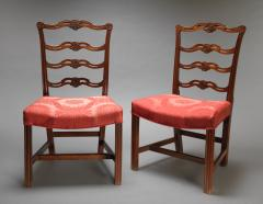 Pair of Carved Chippendale Ribbon or Pretzel Back Side Chairs - 165949