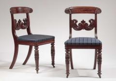 Pair of Carved Mahogany Dining Chairs - 1228639