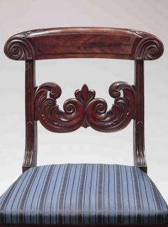 Pair of Carved Mahogany Dining Chairs - 1228640