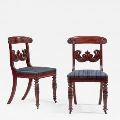Pair of Carved Mahogany Dining Chairs - 1229351