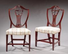 Pair of Carved Shield Back Side Chairs - 334741
