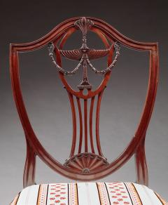 Pair of Carved Shield Back Side Chairs - 334742