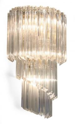 Pair of Cascading Crystal Glass Sconces by Camer - 775405