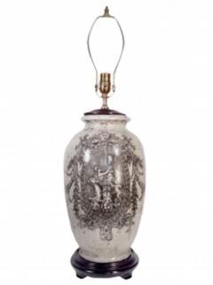 Pair of Ceramic Urn Lamps - 1649436