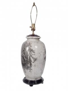 Pair of Ceramic Urn Lamps - 1649438