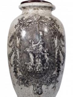 Pair of Ceramic Urn Lamps - 1649439