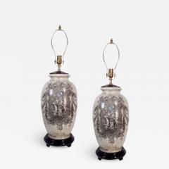 Pair of Ceramic Urn Lamps - 1650088
