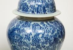 Pair of Chinese Blue and White Jars with Lids - 1311244