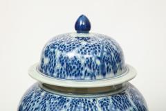 Pair of Chinese Blue and White Jars with Lids - 1311245