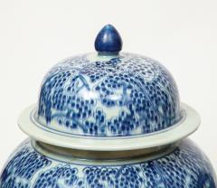 Pair of Chinese Blue and White Jars with Lids - 1311247