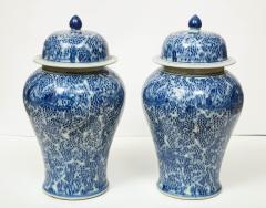 Pair of Chinese Blue and White Jars with Lids - 1311248