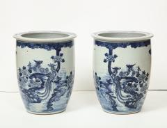 Pair of Chinese Blue and White Planters - 1311197