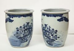 Pair of Chinese Blue and White Planters - 1311198