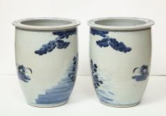 Pair of Chinese Blue and White Planters - 1311202