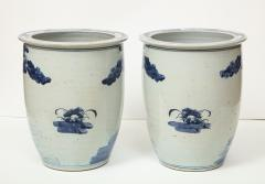 Pair of Chinese Blue and White Planters - 1311203
