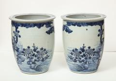 Pair of Chinese Blue and White Planters - 1311204