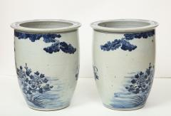 Pair of Chinese Blue and White Planters - 1311205