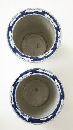 Pair of Chinese Blue and White Planters - 1311207
