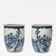 Pair of Chinese Blue and White Planters - 1312964