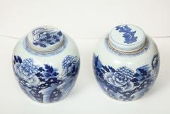 Pair of Chinese Export Ginger Jars - 1311256
