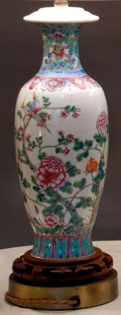 Pair of Chinese Famille Rose Lamps - 621111