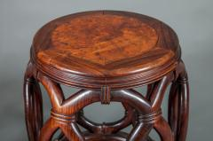 Pair of Chinese Hardwood Garden Seats - 327904