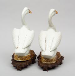 Pair of Chinese Porcelain Ducks on Stands - 267249