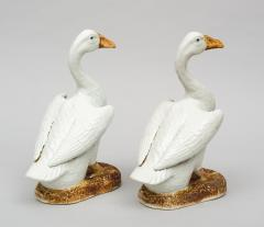 Pair of Chinese Porcelain Ducks on Stands - 267250