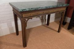 Pair of Chinoiserie Console Tables with Verde Antico Tops - 271983