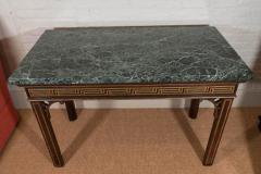 Pair of Chinoiserie Console Tables with Verde Antico Tops - 271984