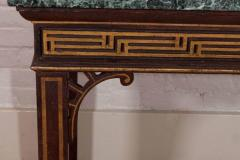 Pair of Chinoiserie Console Tables with Verde Antico Tops - 271985