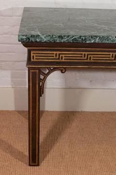 Pair of Chinoiserie Console Tables with Verde Antico Tops - 271987