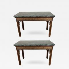 Pair of Chinoiserie Console Tables with Verde Antico Tops - 272857