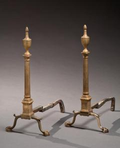 Pair of Chippendale Brass Andirons - 209980
