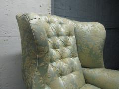 Pair of Chippendale Style Tufted Wingback Chairs - 1316495