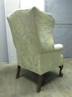 Pair of Chippendale Style Tufted Wingback Chairs - 1316500
