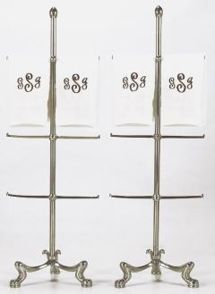 Pair of Chrome French Regency Style Towel Bars - 280281
