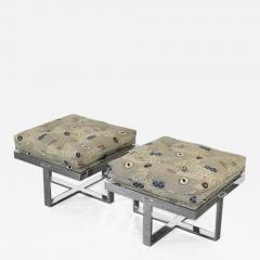 Pair of Chrome Stools 1970s - 378293