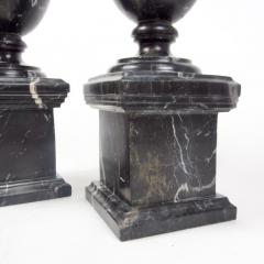 Pair of Classical Black Marble Urns - 2065650