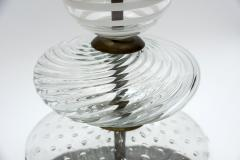 Pair of Clear and Swirled Murano Glass Table Lamps - 1174444