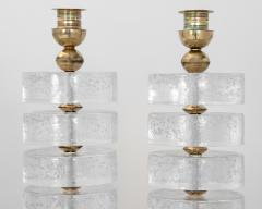 Pair of Column Seeded Glass Murano Lamps - 1681731