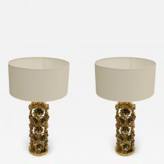 Pair of Contemporary Italian Brass Table Lamps - 1988887
